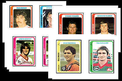 Nrl Rugby League (1979) - Gum Card/ Postcard Set # 1