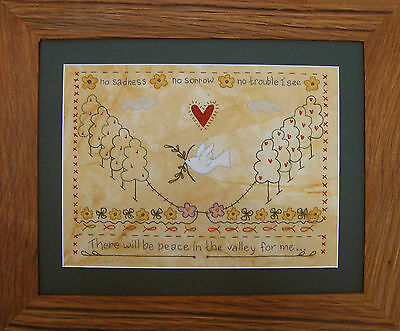 PEACE IN THE VALLEY || Stitchery Kit ||