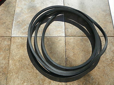 "Set of 2 Caroni Finish Mower Belts for TC590 59"" Cut Machine code 1380 X 2"