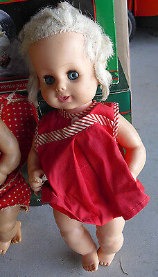 """Vintage 1960s Horsman Blonde Baby Girl Doll 14"""" Tall"""