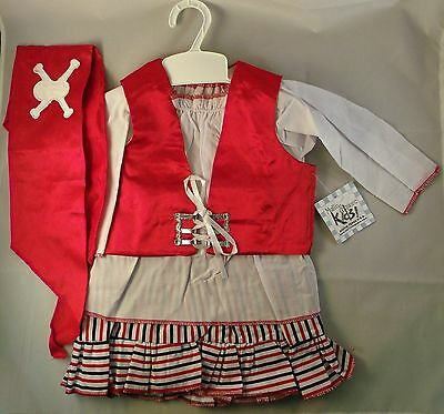 Deluxe Baby Girls Pirate Halloween Costume for 6 to 18 Months