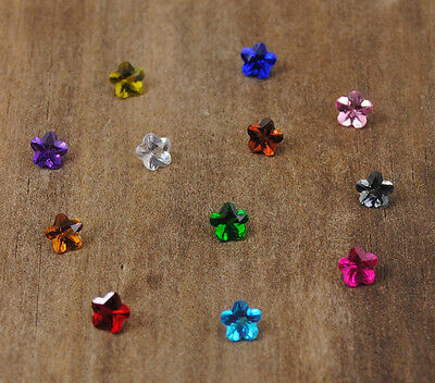 12pcs Flower Crystal Floating Charm for Glass Living Memory Locket Mix H1890
