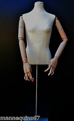 Mannequin Buste Adolescent Vetement Vitrine Couture Made In France
