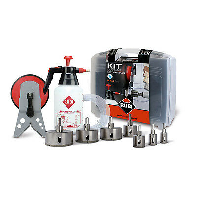 Rubi Easy Gres Plus Kit - Inc 7x Diamond Tile Drill Bits (20-75mm) - 50937