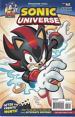 "Sonic Universe #62 Reg Cover ""shadow Fall Pt 4"" (Archie)"