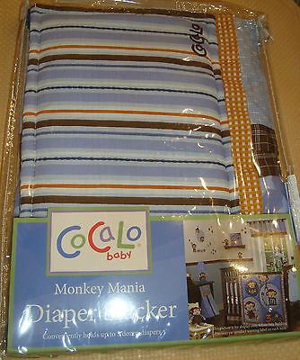 Pretty CoCaLo Monkeys Mania Diaper Stacker GREAT PRICE!
