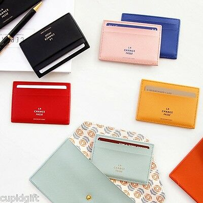 Iconic Flat Card Case Wallet Credit Business Holder Pocket Korean Style Fashion