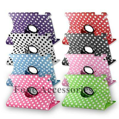 Polka Dot 360 Degree Rotating Stand Smart Flip Smart Case Cover For iPad 2 3 4