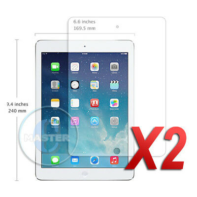 2X INVISIBLE FRONT HD CLEAR SCREEN PROTECTOR GUARD for APPLE iPAD AIR 2 PRO 9.7