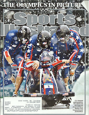 March 10 2010 Bobsled Team Winter Olympics Sports Illustrated Magazine Pictures