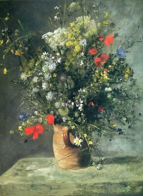 "RENOIR ~ Flowers in a Vase ~ CANVAS ART PRINT 16""X 12"""