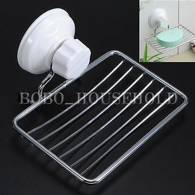 Sink Soap Dispenser Tray Dish Holder Suction Shower Stainless Steel Wall-Mounted