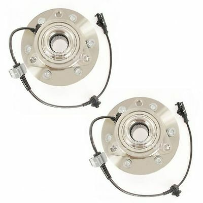 Wheel Hubs & Bearings Front Left & Right Pair Set for Chevy GMC Cadillac 4WD