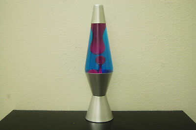 20oz Lava Brand Motion Lamp BLUE Liquid w/PURPLE Lava