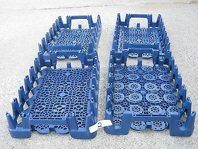4 pcs Used Pepsi Cola Plastic Blue Crate Stacking Carrier Case
