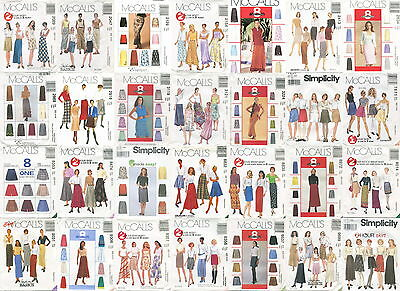 Misses Skirts Sewing Pattern ~ All Include Size 4 6 8 ~ Uncut
