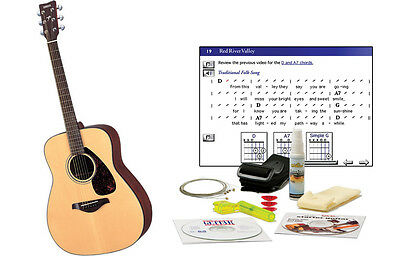Yamaha FG700S Acoustic Guitar + DVD Lessons; Tuner; Strap; Picks; Polish; String