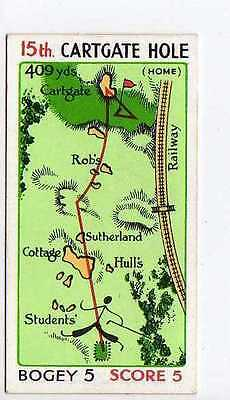 (Jq753-100)Churchman,Can You Beat Bogey/St Andrews,Mr Everyman 15th Hole,1933#44