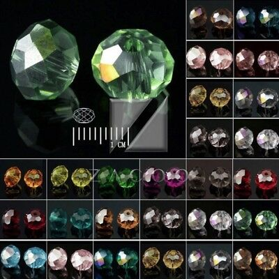 150 About Faceted Loose Rondelle Czech Crystal Spacer Glass Beads 3x4mm 5040
