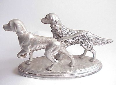 VERY Vintage Silverplate Pointer Hunting Dogs