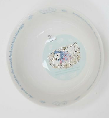 NWT Wedgwood 2003 Beatrix Potter Jemima Puddle Duck Childs Cereal Bowl FS