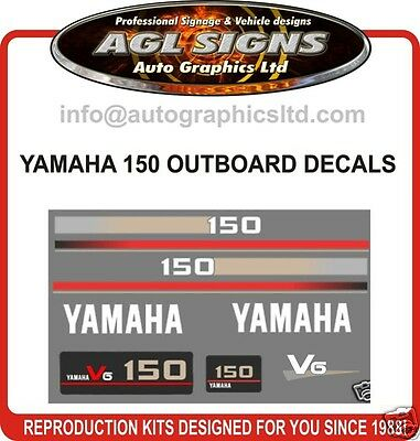 Yamaha 150 Hp Outboard Decals, Stickers, 115 , 175 , 200 , 250