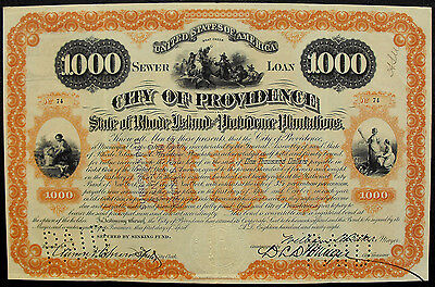 USA Amerika City of Providence State of Rhode Island Lown 1898 deko