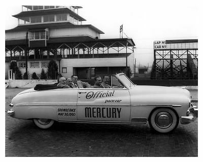 1950 Mercury Official Indy 500 Pace Car Factory Photo Benson Ford uc6943