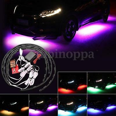 7 Colors LED Underbody Car Glow Neon Lights Strip Kit Wireless Remote Controller