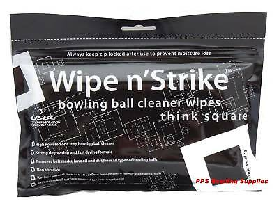 Wipe 'n' Strike Tenpin Bowling Ball Cleaner Wipes 3 pk