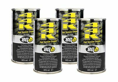 4 x GENUINE BG44K Fuel Injector & Engine Cleaner With Disposable Funnels