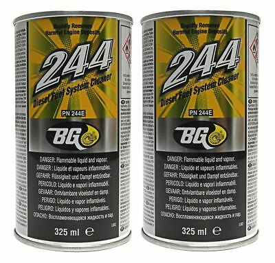 2 x GENUINE BG244 Fuel Injector & Engine Cleaner With Disposable Funnels