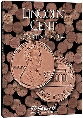 H E HARRIS 4002 Coin Folder #4 LINCOLN CENT PENNY Starting 2014  Book / Album