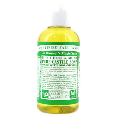 Dr Bronner's Organic Almond Castile Liquid Soap- Available in different Sizes
