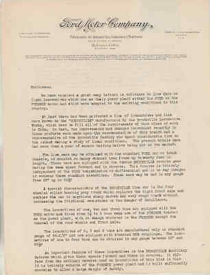 1926 Ford Fordson Tractor & Model T Brookville Locomotive Cuba Letter wu1633