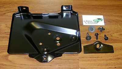 Battery Tray 7pc Kit w/ Hold down Clamp + correct screws 67-69 Camaro Firebird