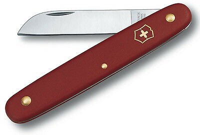 """Victorinox Swiss Army 2.5"""" Straight Blade Floral Knife Red 47567 NEW"""