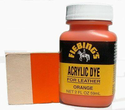 Fiebing's Acrylic Orange Leather Paint 2 oz. (59mL) 2604-10