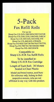 5-pack of UX-3CR Fax Refill Rolls for Sharp UX-300 UX-300M UX-305 UX-310 UX-320
