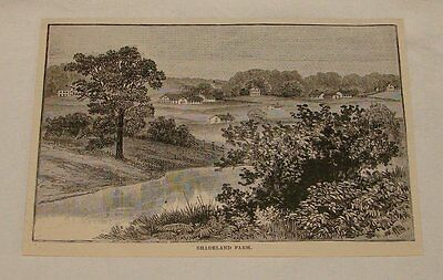 1887 magazine engraving ~ SHADELAND FARM, PA