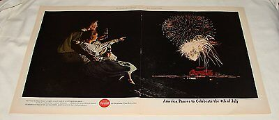 1962 Coca Cola FOURTH OF JULY FIREWORKS ad ~ 13.5x21