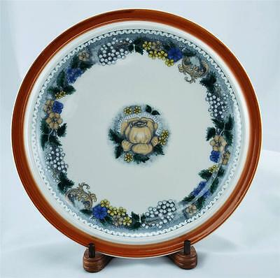 Goebel China Burgund Country Floral Design Dinner Plate Made W Germany Retired