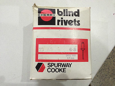 "Cherry Blind Pop Rivet Truss Head Aluminium Steel 73AS 6-8 3/16"" 4.8mm 20 pcs"