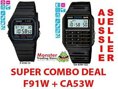 CASIO SUPER COMBO DEAL FREE POST FROM SYDNEY VINTAGE RETRO 1 x F91W + 1 x CA53W