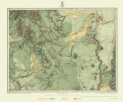 TOPOGRAPHICAL MAP - Colorado, New Mexico Land Classification 1878 ...