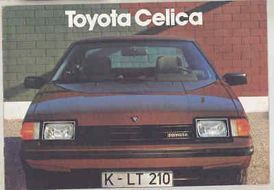 1983 Toyota Celica Brochure German wu1664