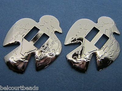 Silver Eagle Concho Slide Pack of 10 Great for Dream Catchers Western Wear