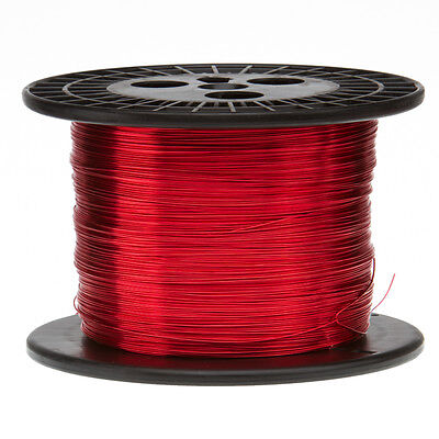 "17 AWG Gauge Enameled Copper Magnet Wire 5.0 lbs 797' Length 0.0469"" 155C Red"