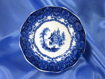 "HTF 1850 DARK FLOW BLUE GOTHA 5"" SAUCE DISH JOSEPH HEATH STAFFORDSHIRE VG+++"