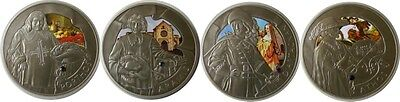 elf Belarus 4pc 2009 Silver Matte Proof Set  Three Musketeers